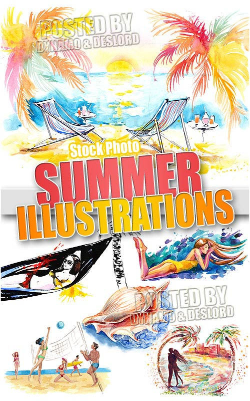 Summer illustrations - UHQ Stock Photo