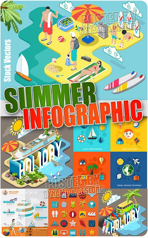 Summer infographic 2 - Stock Vectors