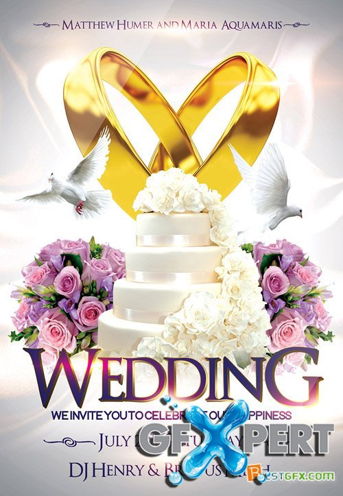 Free Flyer Psd Template  Wedding   Facebook Cover Download