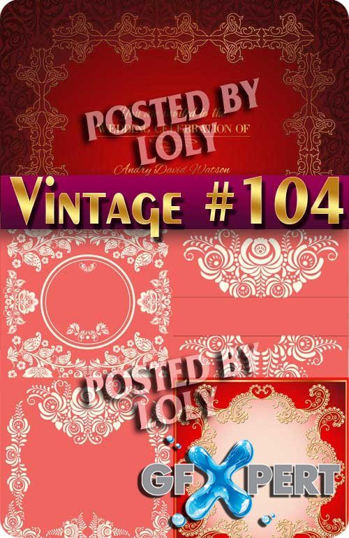 Vintage backgrounds #104 - Stock Vector