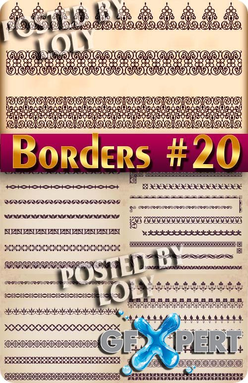 Vintage elements and borders #20 - Stock Vector