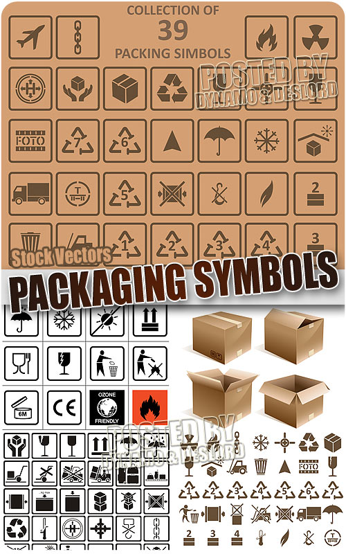 Packaging symbols - Stock Vectors