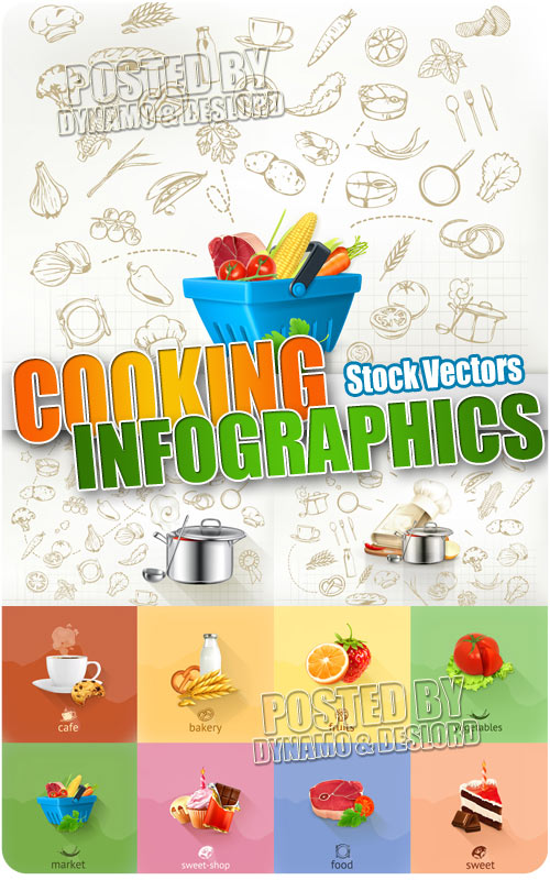 Cooking infographics - Stock Vectors