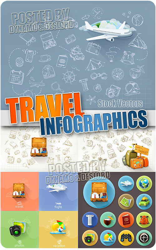 Travel infographic - Stock Vectors