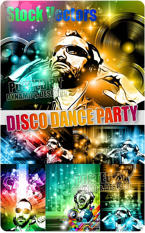 Disco Dance Party - Stock Vectors