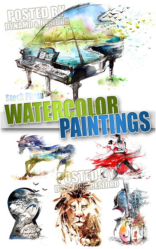 Watercolor paintings - UHQ Stock Photo