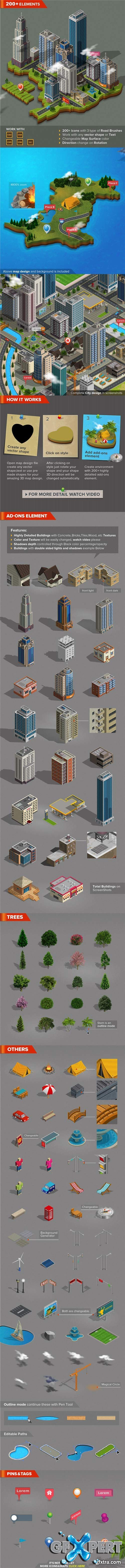 GraphicRiver - 3D City and Map Generator 7688347