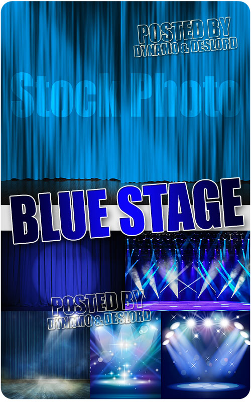 Blue stage 2 - UHQ Stock Photo