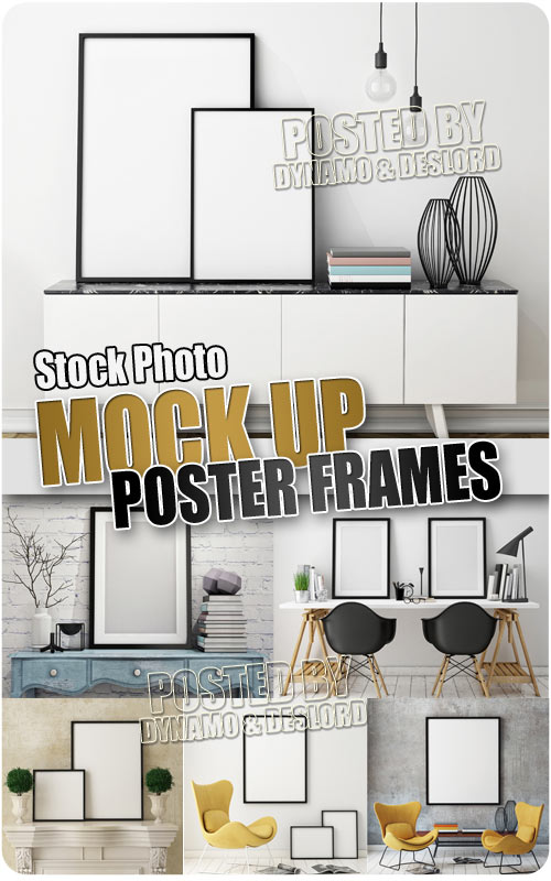 Mock up poster frame - UHQ Stock Photo