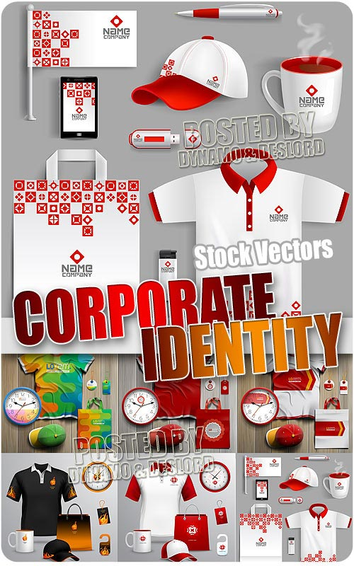 Corporate identity template 2 - Stock Vectors