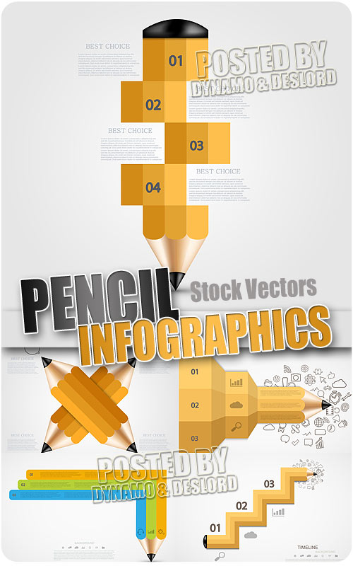 Pencil infographics - Stock Vectors