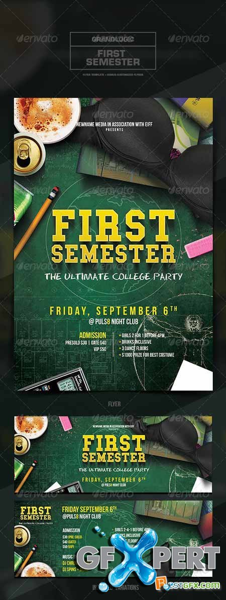 free graphicriver college party flyer poster 5445822 download