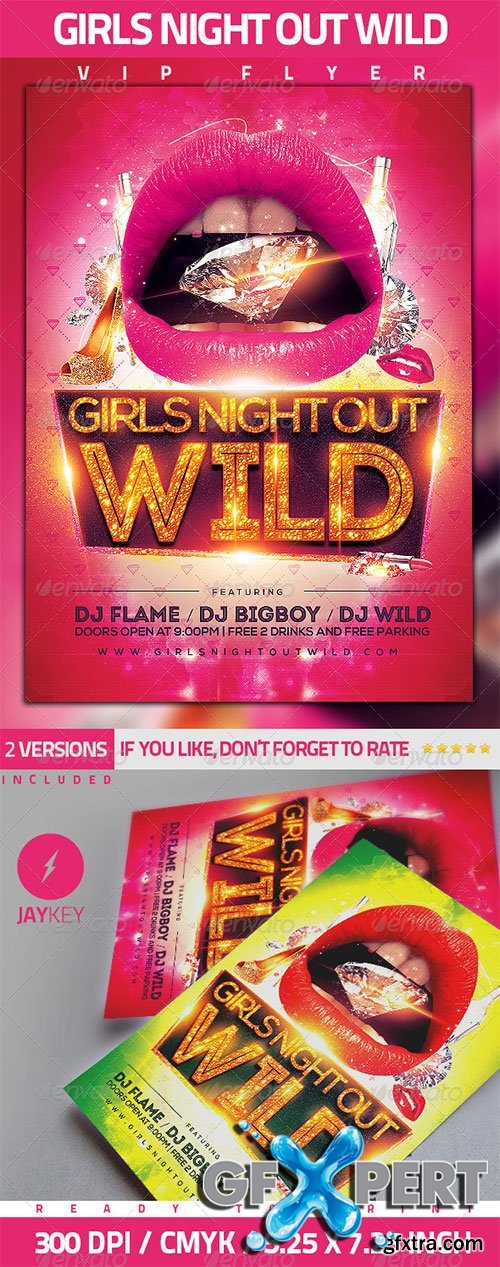 GraphicRiver - Girls Night Party Flyer 5534753