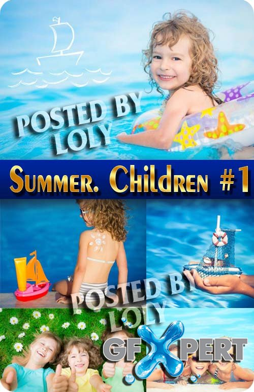 Summer. Children #1 - Stock Photo