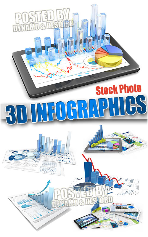 3D infographic - UHQ Stock Photo