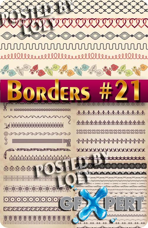 Vintage elements and borders #21 - Stock Vector