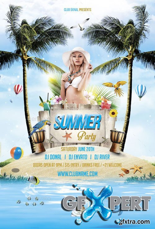 GraphicRiver - Summer Party Flyer - 10772037