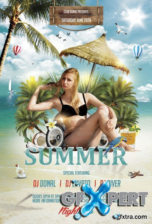GraphicRiver - Summer Party Flyer - 11270314