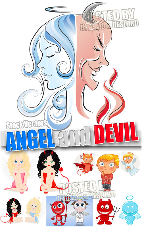 Devil and Angel - Stock Vectors
