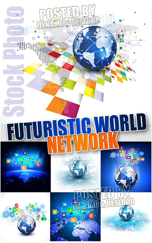 Futuristic world network - UHQ Stock Photo
