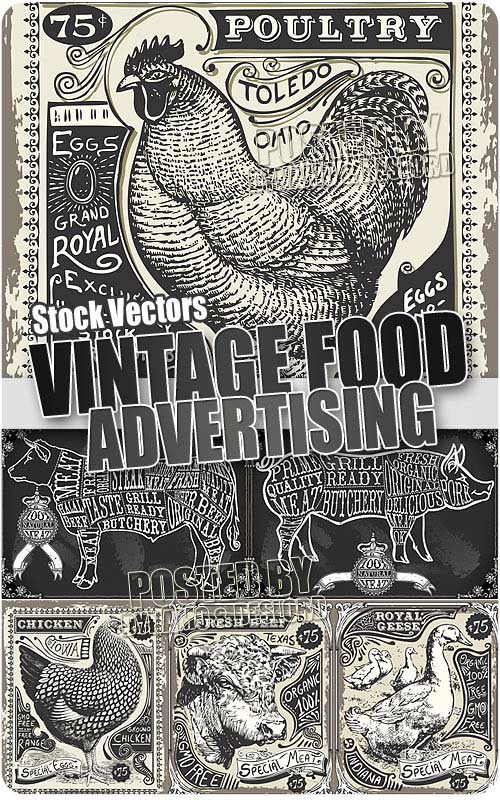 Vintage Food Advertising - Stock Vectors