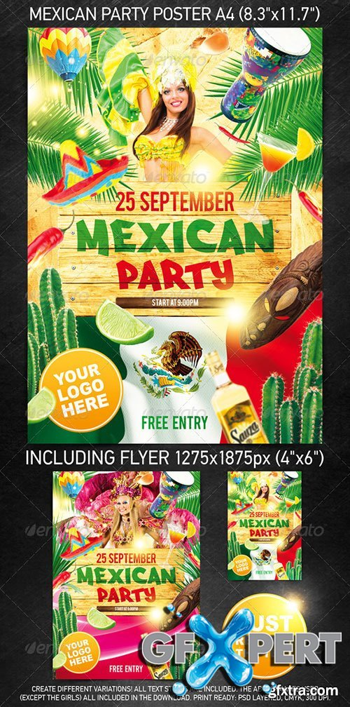 GraphicRiver - Mexican Party Template