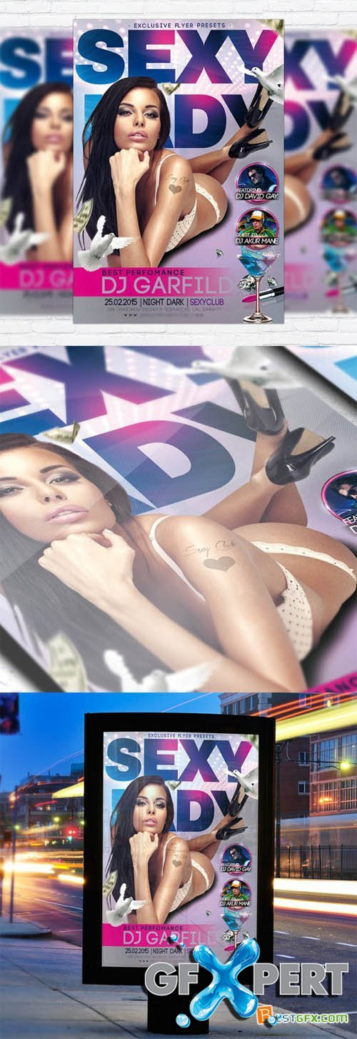 Flyer Template PSD - Sexy Lady