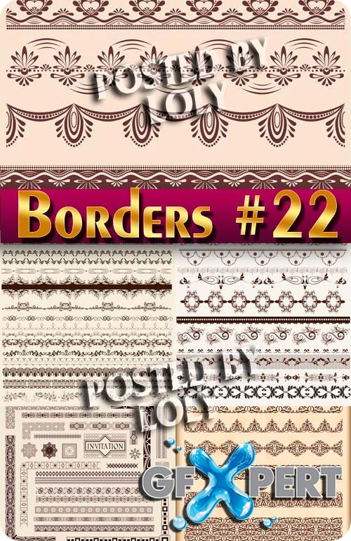 Vintage elements and borders #22 - Stock Vector