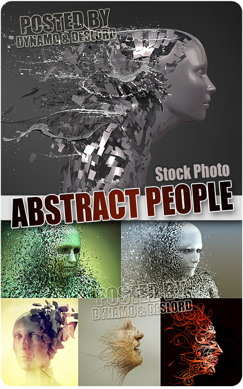 Abstract people - UHQ Stock Photo