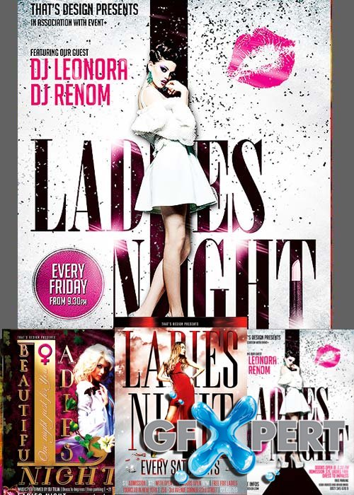 Ladies Night Flyer Bundle par 1 + Facebook Cover