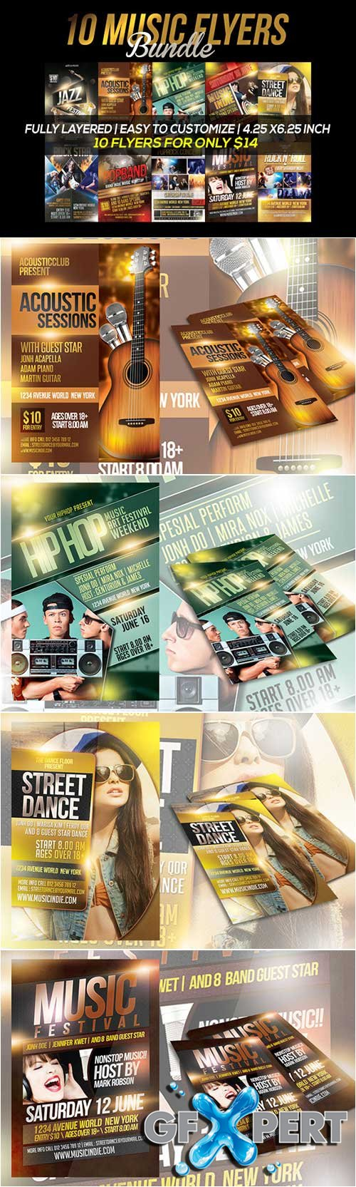 10 Music Flyers Bundle