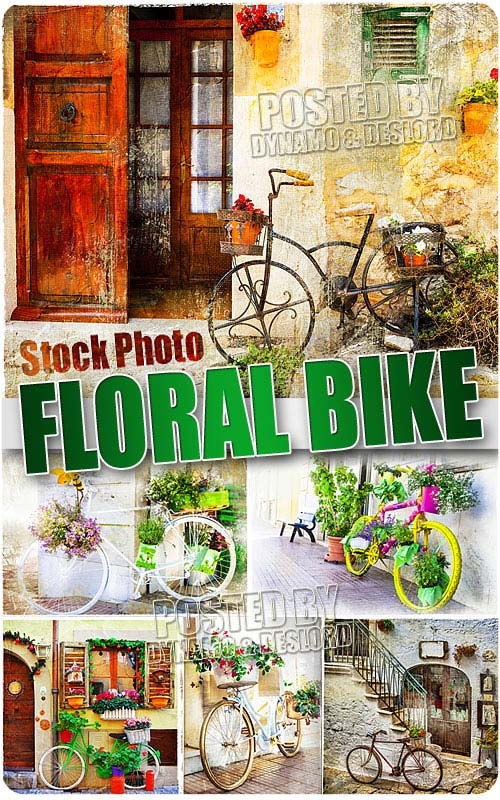 Floral bike - UHQ Stock Photo