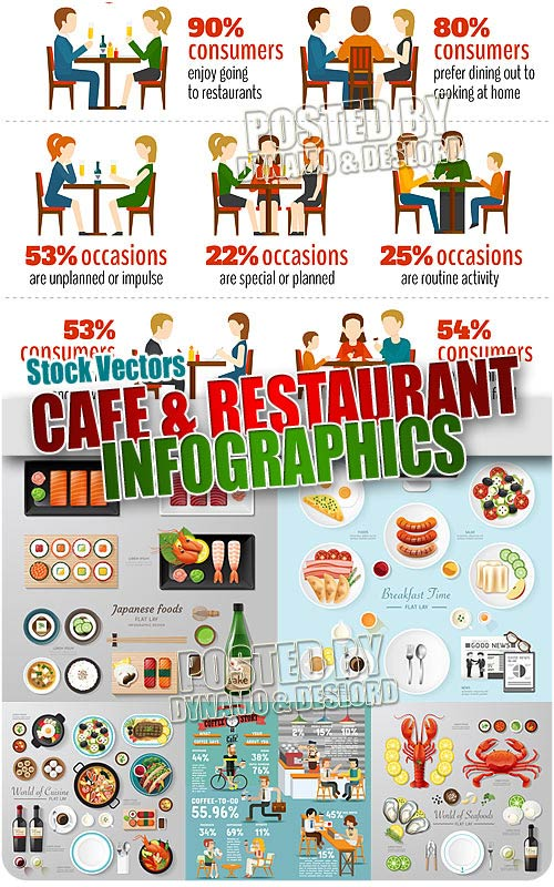 Cafe infographic - Stock Vectors