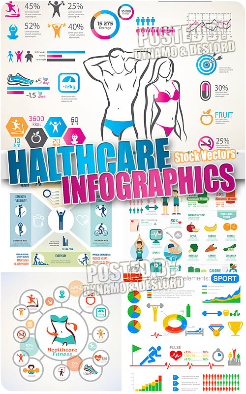 Healthcare infographic - Stock Vectors