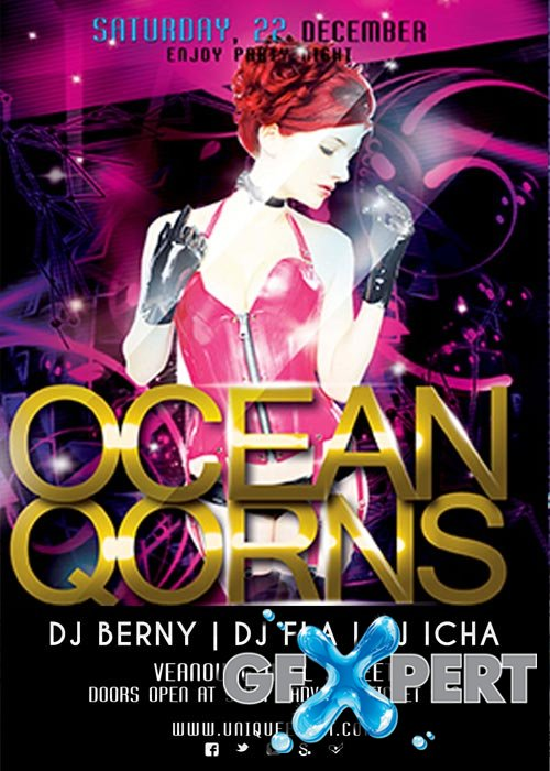 Ocean Qorns Flyer Template