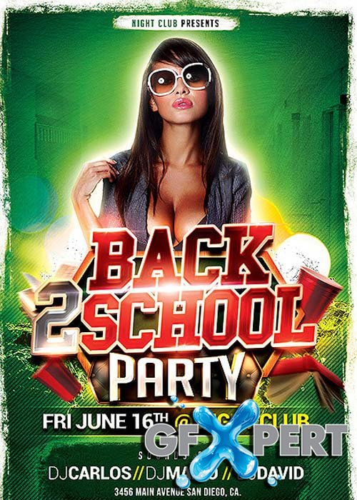 Free Back To School Psd Flyer Template Download