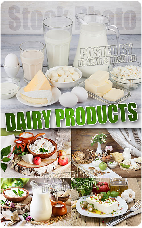 Still lifes of dairy - UHQ Stock Photo