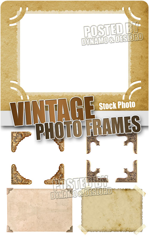 Vintage photo frames - UHQ Stock Photo