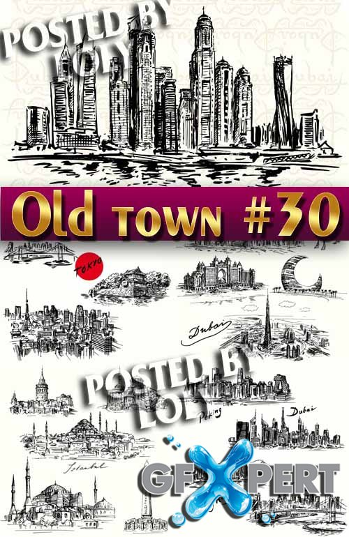 Old Town #30 - Stock Vector
