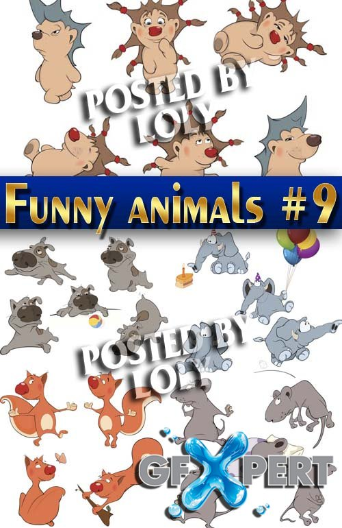 Funny Animals #9 - Stock Vector