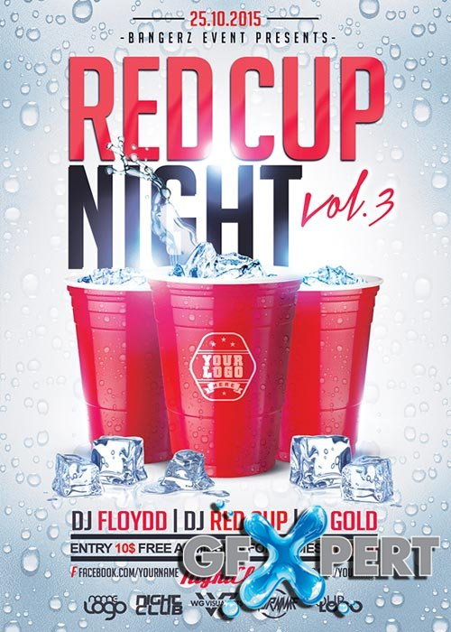 Free Red Cup Flyer Template Download
