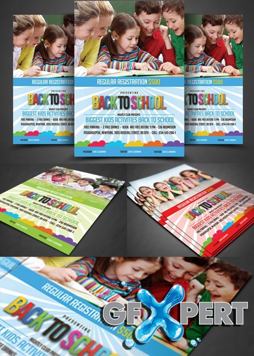 Free Kids Education Flyer Template Download