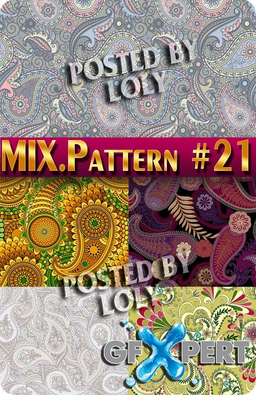 Mix Patterns #21 - Stock Vector