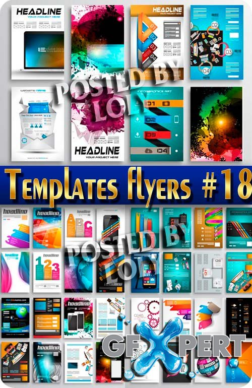 Flyer templates #18 - Stock Vector