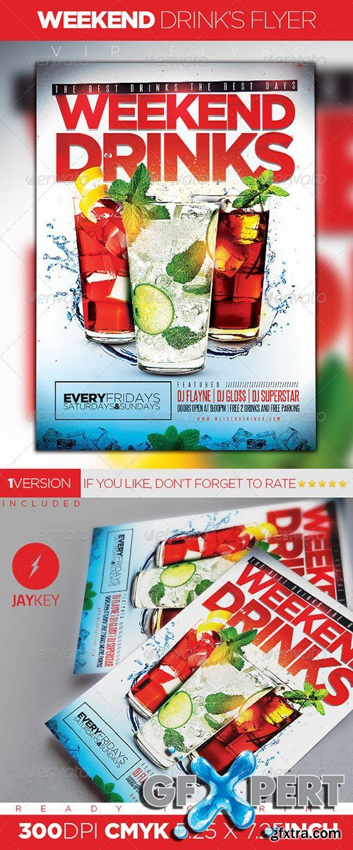 GraphicRiver - Weekend Drinks Flyer 5899392