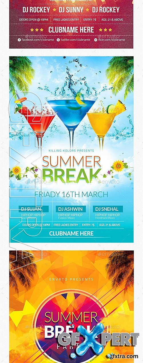 GraphicRiver - Summer Party Flyer Bundle 12146490
