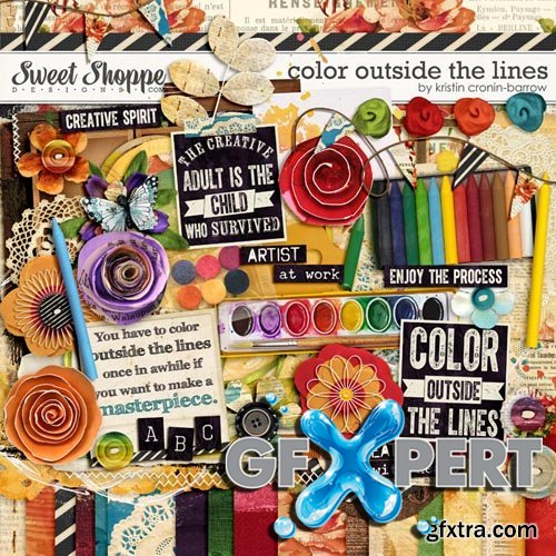 Scrap - Color Outside the Lines JPG and PNG