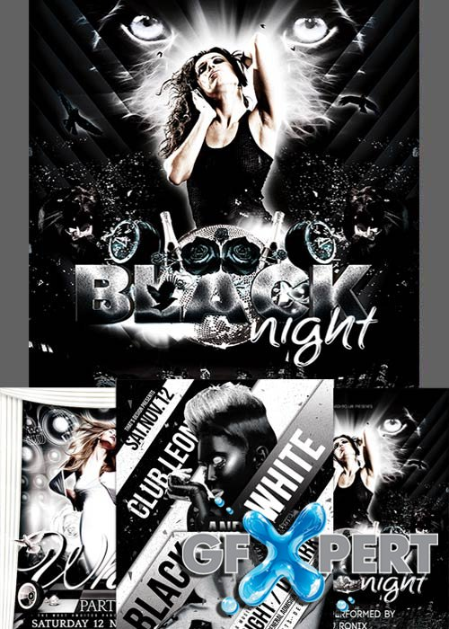 Free Black And White Party Flyer Template Download