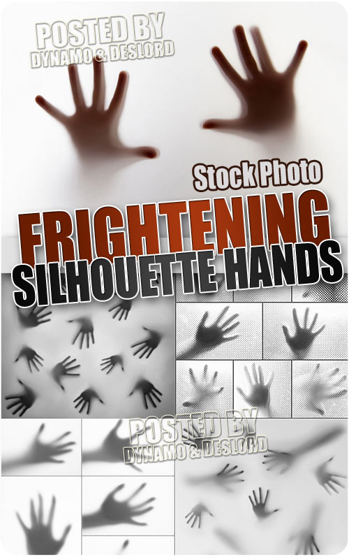 Frightening silhouette hands - UHQ Stock Photo