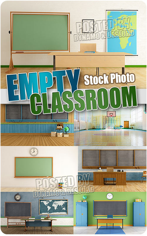 Empty classroom 2 - UHQ Stock Photo